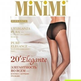 Колготки женские классические, с утягивающими трусиками MiNiMi Elegante 20 den