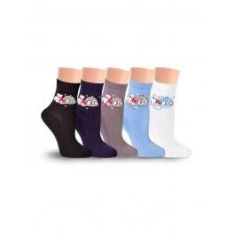 Носки Hobby Line HOBBY 6191 носки ангора, сердечко 3Д