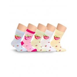 Носки детские для девочек, с рисунком Lorenz Л15