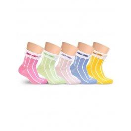 Носки детские для девочек, цветные с отворотом Lorenz Л18