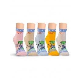 Носки детские для девочек, с тропическим рисунком Lorenz Л21