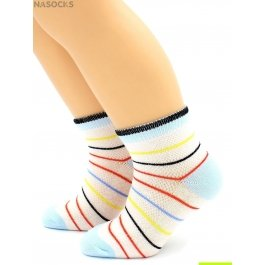 Распродажа носки Hobby Line HOBBY 128 детские сеточка х/б, полоска