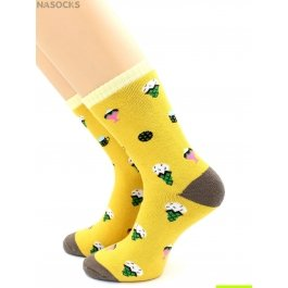 Носки теплые махровые-пенка, рисунок бананы Hobby Line HOBBY 2208-2