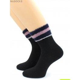 Носки Hobby Line HOBBY 7809 носки женские с пухом с полосками из искусств.соболя