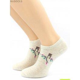 Распродажа носки Hobby Line HOBBY 512-12 укороченные женские х/б, сова на веточке