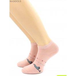 Распродажа носки Hobby Line HOBBY 512-13 укороченные женские х/б, птичка с сердечками