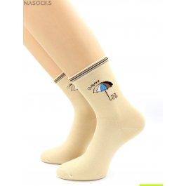 Распродажа носки Hobby Line HOBBY 334-6 женские хлопковые, кошечка под зонтиком