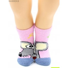 """Носки Hobby Line HOBBY 3340-3 детские махровые пенка """"Мышка с буквами"""""""