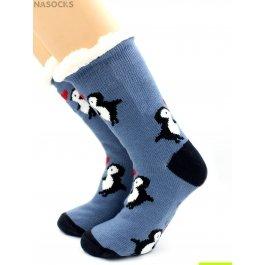 """Носки Hobby Line HOBBY 30594 женские носки с мехом внутри """"Пингвины"""""""