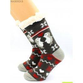 """Носки Hobby Line HOBBY 30594-1 женские носки с мехом внутри """"Влюбленные пингвины"""""""