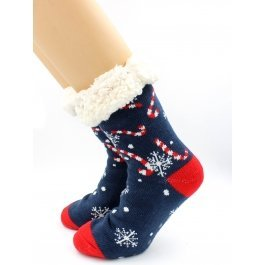 "Носки Hobby Line HOBBY 30592 женские носки с мехом внутри ""Candy cane"""