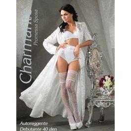 Чулки Charmante SP DEBUTANTE 40 aut. женские с рисунком свадебные