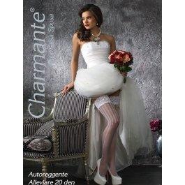 Чулки Charmante SP ALLEVIARE 20 aut. женские свадебные с рисунком