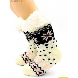 Носки Hobby Line HOBBY 30765 детские носки с мехом внутри, крупные снежинки