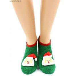 """Носки Hobby Line HOBBY 2159-2 махровые-травка ABC укороченные новогодние """"Дед Мороз"""""""