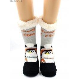 """Носки Hobby Line HOBBY 30588-1 женские носки с мехом внутри """"Пингвин в шапке"""""""
