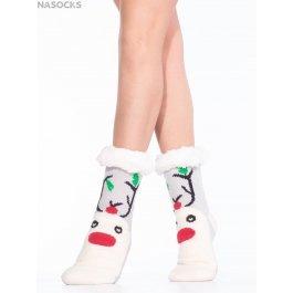 """Носки Hobby Line HOBBY 30589-7 женские носки с мехом внутри """"Олень"""""""