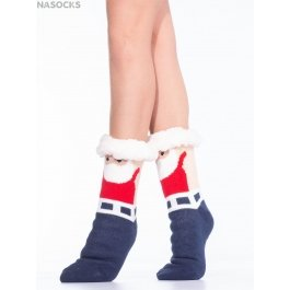 "Носки Hobby Line HOBBY 30591-3 женские носки с мехом внутри ""Дед Мороз"""