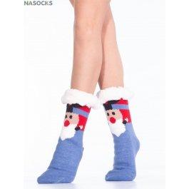 """Носки Hobby Line HOBBY 30599 женские носки с мехом внутри """"Красный нос"""""""