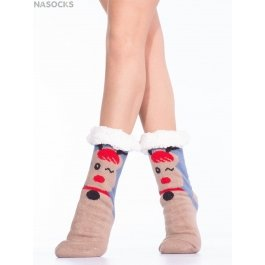 Носки Hobby Line HOBBY 30599-2 женские носки с мехом внутри новогодние