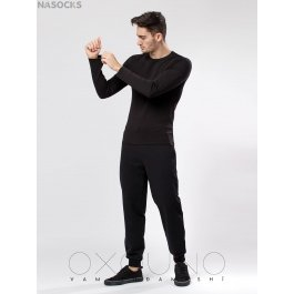 Футболка лонгслив Oxouno OXO 0377 KULIR 01 Slim fit U-вырез