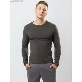 Футболка лонгслив Oxouno OXO 0636 KULIR 01 Slim fit U-вырез