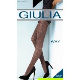 Распродажа колготки женские с геометрическим орнаментом из 3D хлопка Giulia Cotton Way 07 120 den