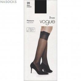 Гольфы женские Vogue Art. 95952 Pleasure 20 Knee-highs, 2 пары