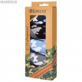 Подарочный набор носков для мальчиков на 23 Февраля ,5 пар, Lorenz Р53