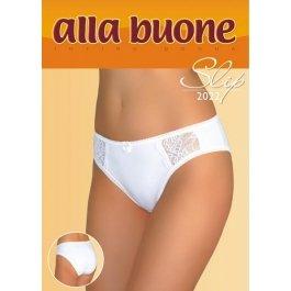 Распродажа трусы-слип женские из хлопка с кружевными вставками Alla Buone 2022