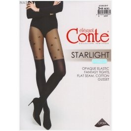 """Колготки c имитацией гольфинов и рисунком """"звезды"""" Conte Elegant Starlight 60"""