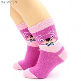 """Носки Hobby Line HOBBY 3556 детские х/б, для девочек, """"Мишка"""""""