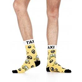 Носки мужские с рисунком такси Wola W94.N03.480