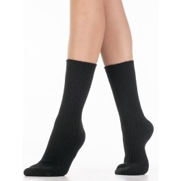 Носки теплые ангора, однотонные лапша Hobby Line HOBBY 6199-3