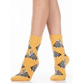 Носки теплые махровые-пенка, рисунок зебра Hobby Line HOBBY 2242-13