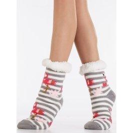 Носки-тапочки женские с мехом внутри, Фламинго Hobby Line HOBBY 30601 ABC