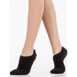 Носки-тапочки махровые-травка укороченные однотонные Hobby Line HOBBY 2155-2
