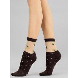 Хлопковые носочки с просветным рисунком Giulia WS2 CRYSTAL 015