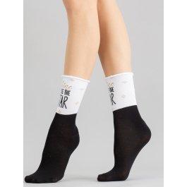 Носки хлопковые с невидимой резинкой и рисунком Giulia WS4 FREE 001