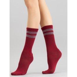 Хлопковые высокие носки с резинкой в рубчик Giulia WS4 STRONG 020