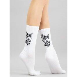 Хлопковые высокие носочки с геометрическим рисунком Giulia WS4M 012