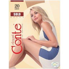 Тонкие классические колготки большого размера 20ден Conte Solo 20 Xl