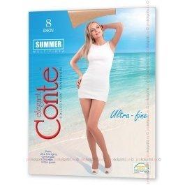 Ультратонкие матовые колготки большого размера 8ден Conte Summer 8 Xl