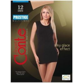 Колготки multifibra больших размеров 12ден Conte Prestige 12 Xl