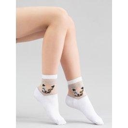 "Детские носочки с мордочкой ""Кошка"" Giulia KS3 CRYSTAL LUREX 001"