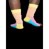 Носки Happy Socks SH01-205 серия Stripe Half с мелкой полоской на паголенке - 2