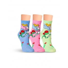 Носки детские для девочек, с феями Lorenz Л43