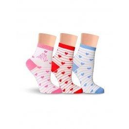 Носки детские для девочек, с cердечками Lorenz Л45