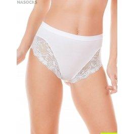 Трусы-слип женские с кружевными вставками и плотным поясом Jadea 521 slip