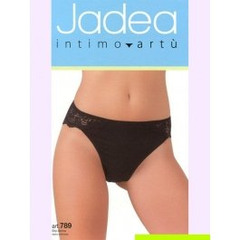 Трусы-слип женские из хлопка с модалом, с заниженной талией и кружевными вставками Jadea 789 slip